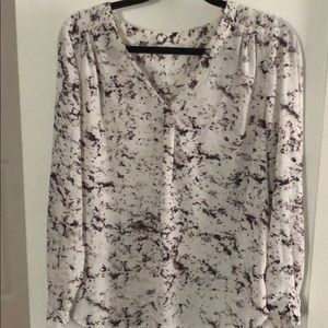 Tops - Patterned long sleeve blouse